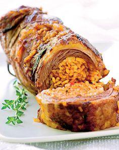 Ruladă de vițel cu orez - Retete culinare - Romanesti si din Bucataria internationala Bob Lung, Meatloaf, Food, Home, Essen, Meals, Yemek, Eten