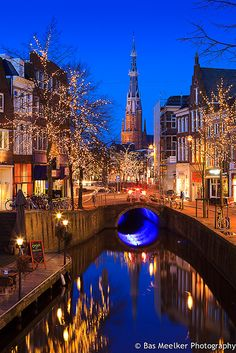 Lights of Ljouwert - Leeuwarden, The Netherlands    #World #Travel