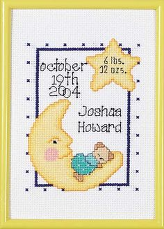 Celestial Birth Announcement - Cross Stitch Kit