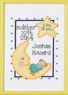Celestial Birth Announcement - Cross Stitch Kit