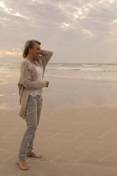 Side view of senior Caucasian woman standing with eyes closed on the beach at beach photo by Wavebreakmedia on Envato Elements Library Icon, Caucasian Woman, Indian Man, Woman Standing, Beach Photos, Side View, Business Flyer, Flyer Design, Design Trends