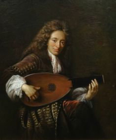 Fine Large Portrait of A 17th Century English Gentleman Lute Oil Painting in Art, Paintings, Antique (Pre-1900) | eBay