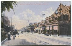 King Street looking South West. Kingston, Jamaica.    Old Jamaica postcard used in 1913 to England