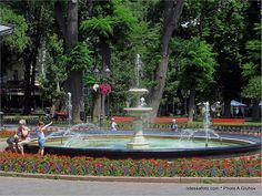 Ukraine, Fountain, Table Decorations, Mansions, House Styles, Outdoor Decor, Furniture, Home Decor, Decoration Home