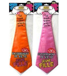 Cravate enterrement de vie de jeune fille