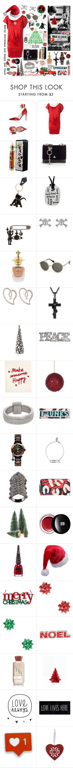 """So This is Christmas - Vivienne Westwood Wish List!"" by curekitty ❤ liked on Polyvore featuring Vivienne Westwood, Grandin Road, Vivienne Westwood Anglomania, Edward Bess, Manic Panic NYC, M&Co and Edie Parker"
