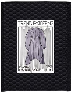 PLEATED SHOULDER DRESS by Trend Patterns