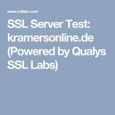 SSL Server Test: kramersonline.de (Powered by Qualys SSL Labs)