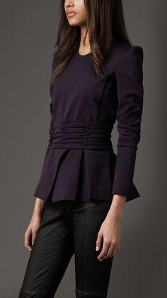 Burberry Pleated Peplum blouse