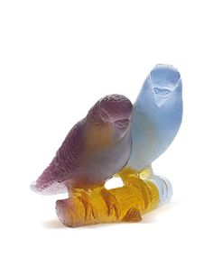 Amber Lovebirds by Daum at Neiman Marcus.