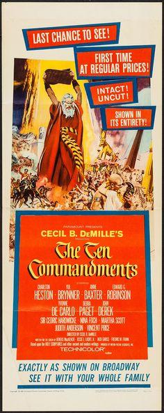 The Ten Commandments (Paramount, R-1960). Insert