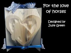 For the love of horses by Bookfoldanddecoupage on Etsy