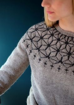 Knitting Patterns Ravelry Ravelry: Tensho Pullover (Artist) pattern by Beatrice Perron Dahlen Sweater Knitting Patterns, Knitting Designs, Knit Patterns, Knitting Projects, Tejido Fair Isle, Motif Fair Isle, Icelandic Sweaters, Fair Isle Knitting, How To Purl Knit