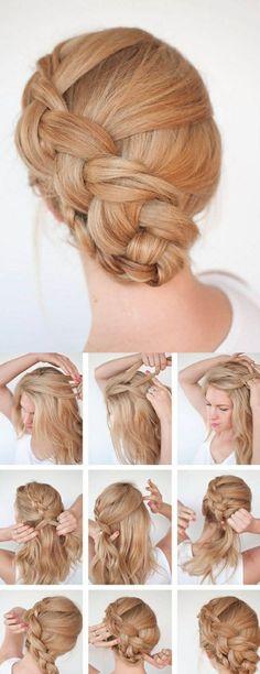 einfache-frisuren-schulterlange-blonde-haare-damen-zupf-haarfrisur-selber-machen