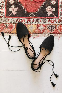 LC Lauren Conrad Lace Up D'orsay Flats