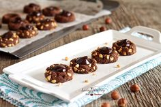 Chocolate Hazelnut Blooms (gluten, grain, egg, dairy free, paleo) by LivingHealthyWithChocolate.com