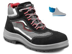 Bezpečnostná členková obuv s kompozitnou tužinkou a kevlarovou stielkou odolnou proti prepichnutiu.
