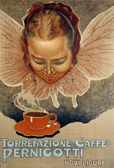 Ettore Mazzini, Torrefazione Caffè Pernigotti, poster.