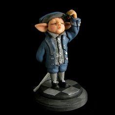 Elf Figurine/ Art Doll  by:-Griffinwyse
