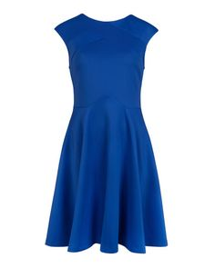 Panelled skater dress - Bright Blue | Dresses | Ted Baker