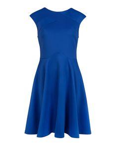 Panelled skater dress - Bright Blue   Dresses   Ted Baker