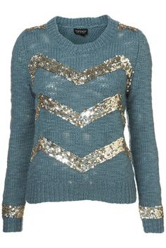 Designer Clothes, Shoes & Bags for Women Sequin Sweater, Sequin Top, Drum Major, My Wardrobe, Blue Tops, Knitwear, Cardigans, Sweaters, Luxury Fashion