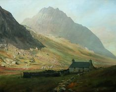 Cottage below Tryfan, an original oil painting by Rob Piercy