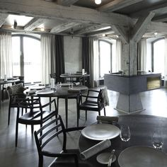 Noma Restaurant in Copenhagen - fur on chairs, black and whashed white colours