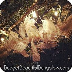 Burlap garland- want this for my big mirror but adding a bit of bling to it!!