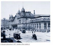 1877-ben épített Nyugati pályaudvar főépülete, melynek csarnokát Gustave Eiffel francia építészmérnök és irodája tervezte.