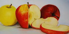 Oil Painting by Emily Page #food #stilllife #fruit #apples