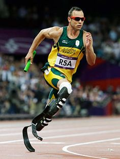 """Blade Runner"" Oscar Pistorius made history in the 2012 Games just by competing. While he did not medal, Pistorius advanced to the semifinals of the 400 meters and then ran with the South African team in the final of the 4x400 relay. ''This week has just been one of the biggest blessings,"" he said.  Now, Pistorius moves on to the Paralympics, where he will defend his 100, 200 and 400 titles from Beijing and try for four gold medals."