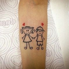 40 Ideas Tattoo For Women Family Kids Boho Tattoos, Mini Tattoos, Body Art Tattoos, New Tattoos, Small Tattoos, Tattoo For Son, Tattoos For Kids, Tattoos For Women, Mother Son Tattoos