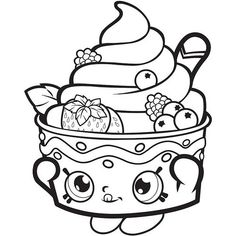 Frozen Yo Chi Printable Shopkins Season 1 One Coloring Pages And Book To Print For Free Find More Online Kids