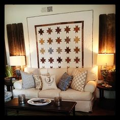 I would love to have a rod to hang different quilts on display in the living room and change with the seasons. Foxgloves, Fabric and Folly !!