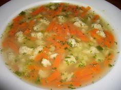 Kostry dáme do studené osolené vody a vaříme cca 1 hod. Kostry vyjmeme a obereme maso. Vývar slijeme do jiného hrnce a dáme do něj vařit mrkev a...