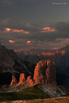Sunset Dolomiti, Italy