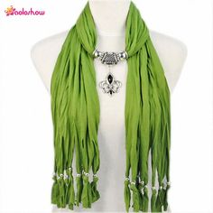 >> Click to Buy << AOLOSHOW Fashion Pendant Jewelry Necklace Scarfs for Women butterf drop pendant scarf necklace with beads tassels NL1791 #Affiliate