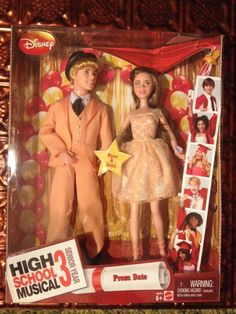 Mattel High School Musical 3 Senior Prom Date Dance Kelsi Ryan Doll Peach Dress #Mattel