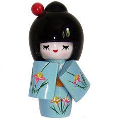 Kokeshi doll - in 5 kleuren
