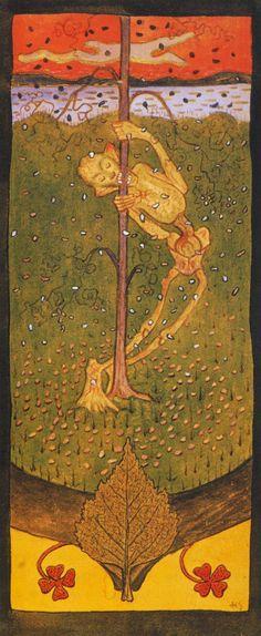 Syksy I Hugo Simberg Finland Art Nouveau, Autumnal Equinox, Digital Museum, Yellow Art, Scandinavian Art, Collaborative Art, Indian Summer, Outsider Art, Memento Mori