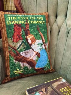 Nancy Drew. Pillows out of your favourite book covers. SUPER good idea.