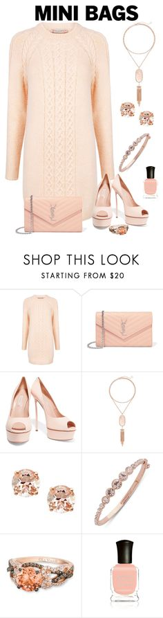 """Mini Bags"" by aharcaki on Polyvore featuring Paul & Joe Sister, Yves Saint Laurent, Casadei, Kendra Scott, Anika and August, Givenchy, LE VIAN and Deborah Lippmann"