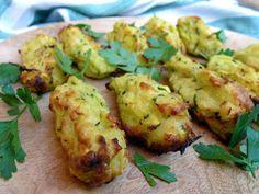 Aardappelhapjes met courgette