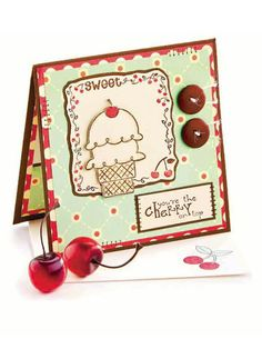 You're the Cherry on Top free paper craft pattern of the day from freepatterns.com 9/17/13