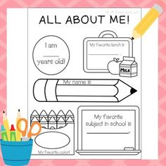 All About Me - All About Me - All About Me - All About Me - All About MeThis fun back to school activity can be used to get to know your students!This product is part of a larger product: Back to School! 2nd Grade ReviewYour feedback is very important to me!