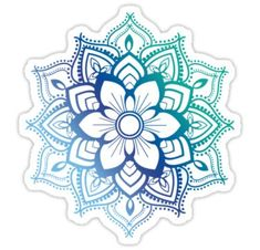 'Blue Mandala' Sticker by adjsr Unique tattoo – Top Fashion Tattoos Mandala Tattoo Design, Dotwork Tattoo Mandala, Tattoo Designs, Tumblr Stickers, Diy Stickers, Laptop Stickers, Cactus Stickers, Room Stickers, Scrapbook Stickers