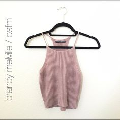 Brandy Melville Pink Edel Knit Tank Just looking to sell / Ask questions / Other buying options available :) Brandy Melville Tops Tank Tops