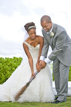 Before jumping the broom, they swept away the negativity from the past to give their union a fresh and positive start.
