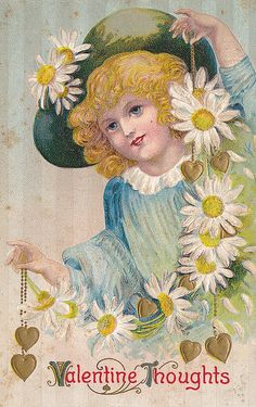 Vintage Postcard - Valentine Thoughts